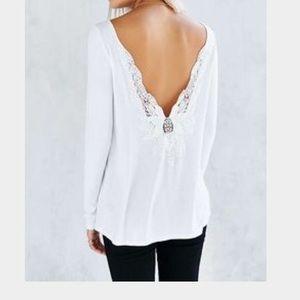 Ecote Lace Back Long Sleeve